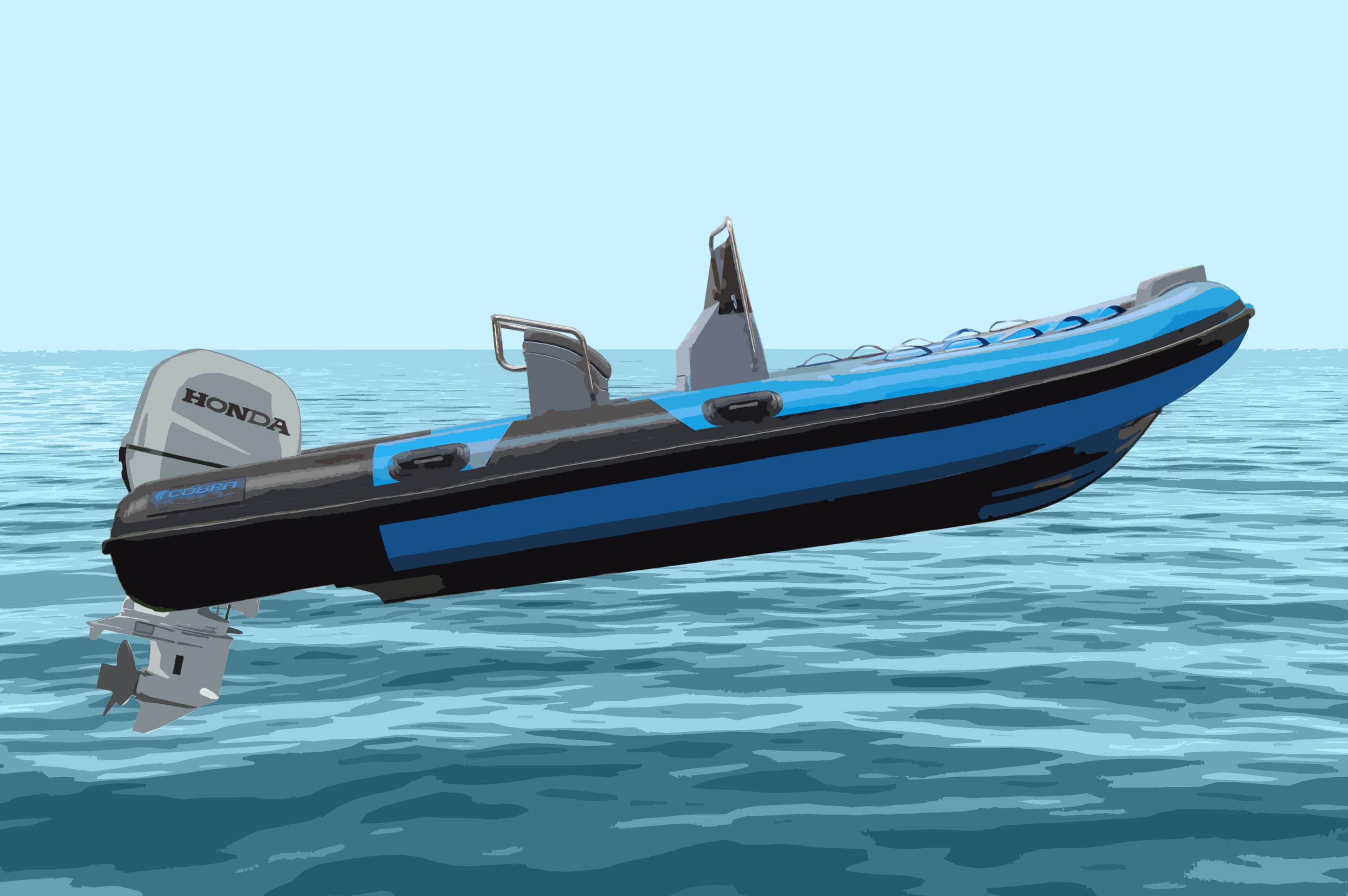 Planear con una embarcación semirrigida trim